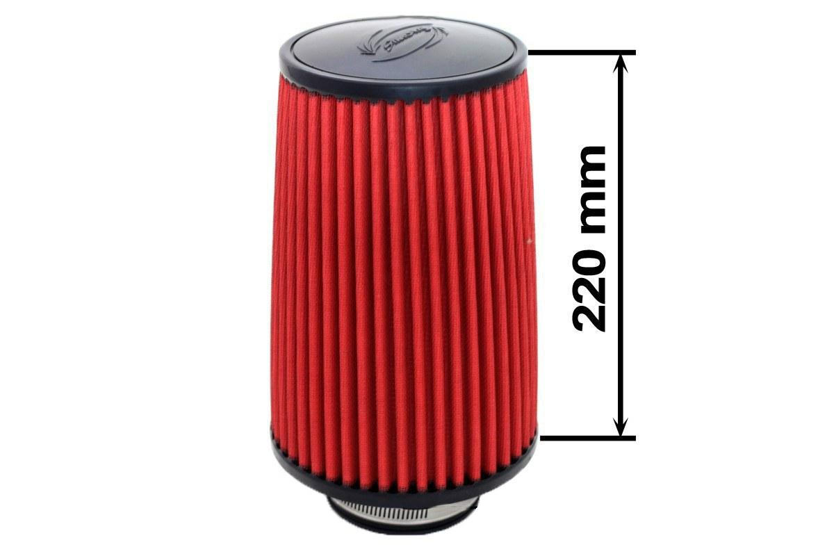 Filtr stożkowy SIMOTA JAU-X02101-15 80-89mm Red - GRUBYGARAGE - Sklep Tuningowy